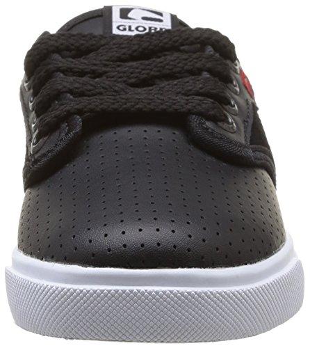 Globe Motley, Baskets mode mixte enfant Noir (Black/Red/White)