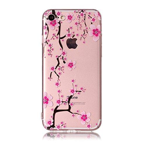 BENKER 3x iPhone 7 Hülle, Kreativ Anti-Kratz Nicht Verblassen 3D Relief Malerei TPU Silikon Telefon Fall - Paket 4 Paket 3