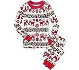 LvRao Famiglia Pigiama di Natale Pajamas Xmas Renna Pantaloni T-Shirt per Mamma papà Neonato Bambino (Xmas #Papà, CN XL)