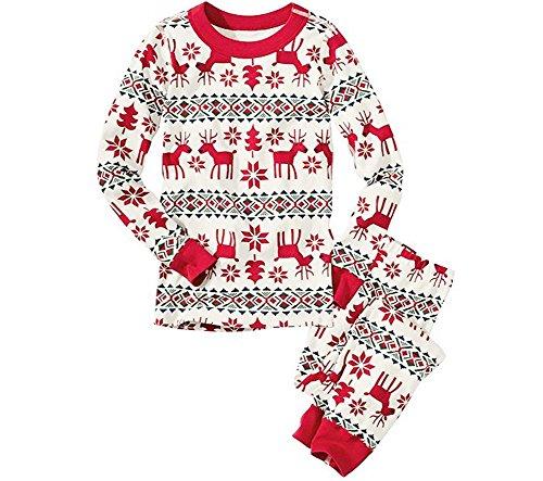 LvRao Familie Schlafanzug Pyjama Weihnachten Baby Kinder Mama Papa Xmas Rentier Hausanzug Nachtwäsche (Xmas #Papa, CN 2XL)