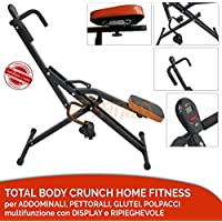 OFFERTA TOTAL POWER BODY CRUNCH con display computerino LCD HOME FITNESS TRAINER ATTREZZO MULTIFUNZIONE per PETTORALI, GLUTEI, ADDOMINALI, GAMBE E BRACCIA