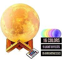 Mondlampe 3D groß 15 cm mit Farbwechsel preisvergleich bei billige-tabletten.eu
