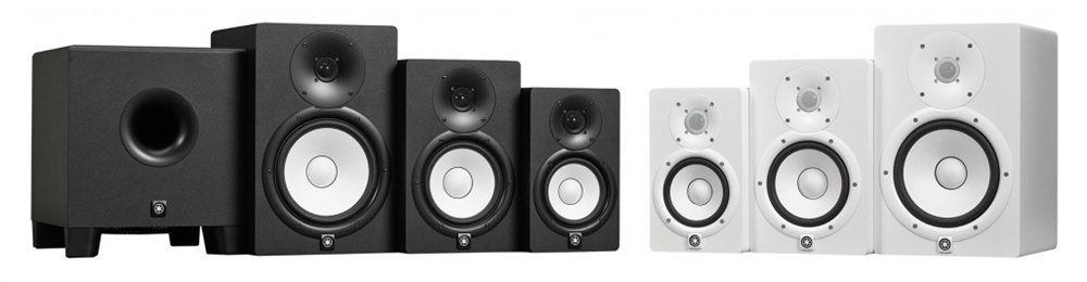 Yamaha HS7Wh Studio Monitor bi-Amplificato con Cone Woofer 6,5″ e Dome Tweeter 1″, Bianco