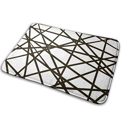 xinchengyac Customized Intersection Line Stripe Random Mesh Jungle Carpet, Suitable for Bathroom Carpet Doorway Carpet, 15.7