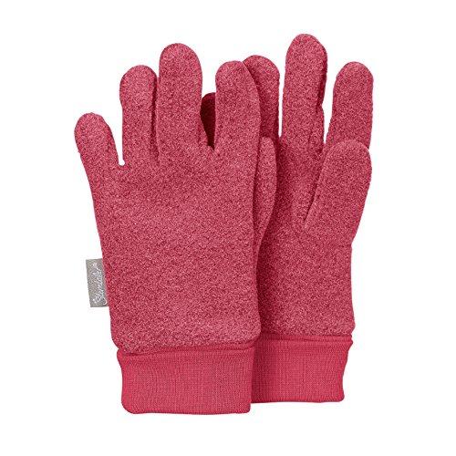 Sterntaler Fingerhandschuhe für Kinder, Alter: 3-4 Jahre, Größe: 3, Rot (Beere)