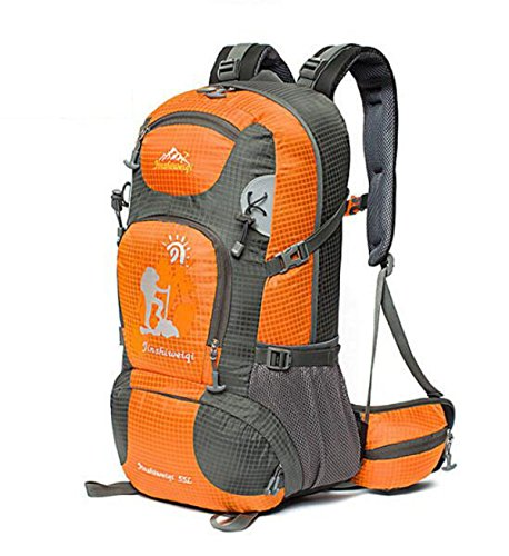 Outdoor Wandern Rucksack Klettern Tasche Wasserdicht Reise Tasche Groß Kapazität 40L Orange