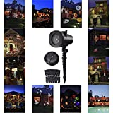 Dooppa 12 Patterns Festival Outdoor Decor LED Projector Lights Lamp for Holiday Party Halloween Christmas Home Decoration Wall Motion Decoration Lighting