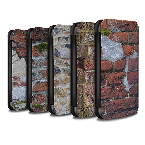 STUFF4 PU-Leder Hülle/Case/Tasche/Cover für Apple iPhone 5/5S / Feuerstein/Stein Muster / Mauerwerk Kollektion Pack 11pcs
