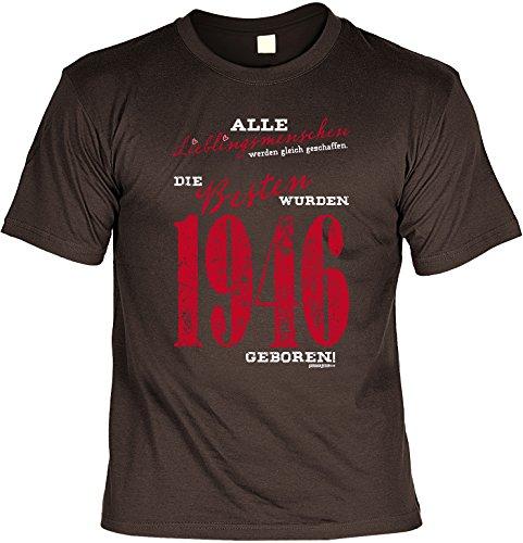 T-Shirt zum Geburtstag - Lieblingsmenschen - Die Besten wurden 1946 geboren! - Geburtstagsgeschenk - Fun shirt - braun Braun