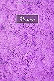 Marion: Personalisiertes Notizbuch mit deinem Namen | Liniert | 15 x 23cm (ca. A5)
