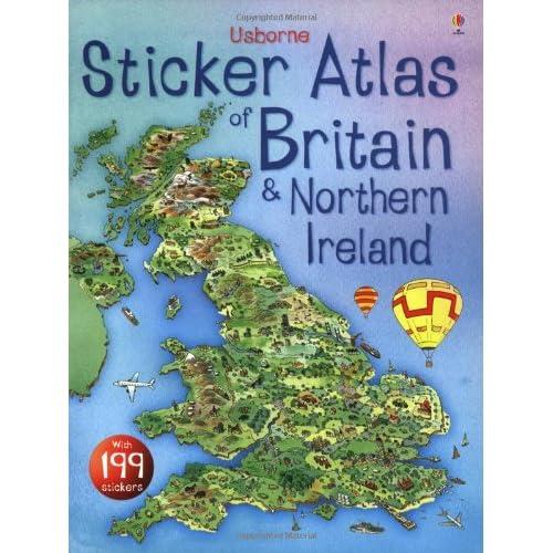Usborne Sticker Atlas of Britain and Northern Ireland
