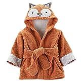 Minuya Bébé Garçon/Fille Mignon Animal Doux Peignoir en Coton Capuche Serviettes de bain pour Bébé (Fox, 0-24 Mois)