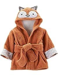 Minuya Bébé Garçon/Fille Mignon Animal Doux Peignoir en Coton Capuche Serviettes de Bain pour Bébé …