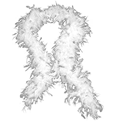 Feather Boa 150cm White by Henbrandt