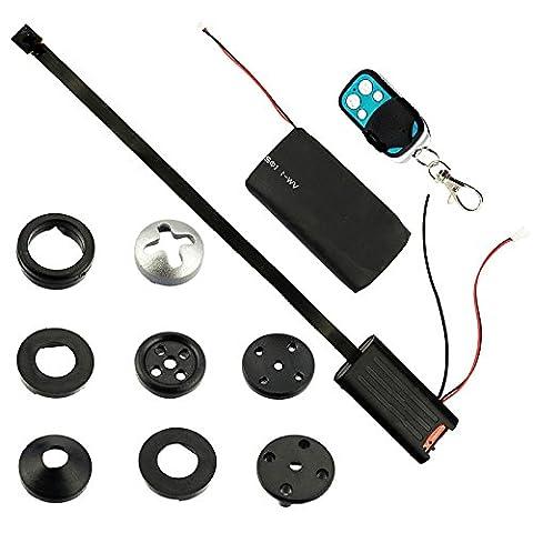 Caméra de surveillance mini caméra caché Bouton Mouvement, 1200Mega Pixels Petite Mini Vidéo Caméra Espion Spy Cam Full HD
