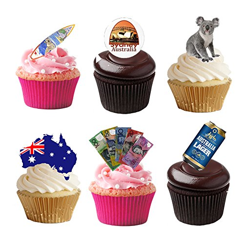 33-stand-up-australia-aussie-themed-premium-edible-wafer-paper-cake-toppers-decorations