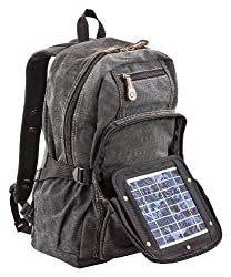 Solar backpack black