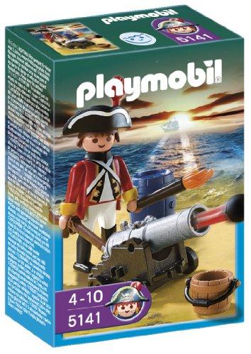 Imagen 1 de Playmobil - Piratas Soldado Con Cañón (5141)