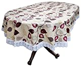 #10: Stylista 6 seater table cover oval shaped WxL 54x78 inches with white border lace