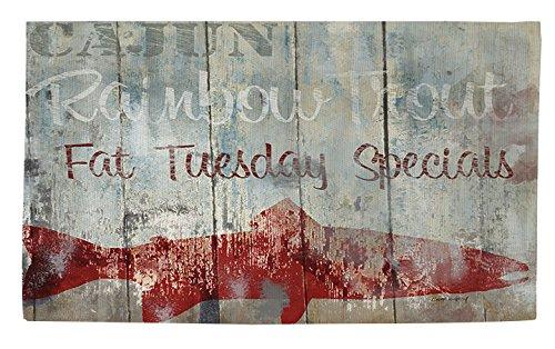 Manuelle holzverarbeiter & Weavers Dobby Bad Teppich, 4von druckknopfstiel, New Orleans Meeresfrüchte -