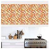 APSOONSELL - Adhesivo decorativo para pared con mosaico de mármol impermeable, diseño de azulejos de cocina (8x8'-10pcs), 1e, 8 * 8inches|20cm*20cm