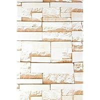 Beige 3d mattoni in PVC pellicola autoadesiva carta da parati lavabile Sticky Back