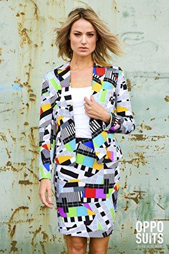 Miss Testival Testbild Damen Kostüm bunt Slimline 2-teilig Premium