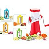 Darkpyro's 4 In 1 Rotary Drum Grater Slicer Shredder First Time With 4 Attached Colorful Drum And Stainless Steel Blades