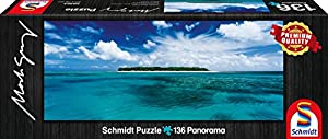 Schmidt Spiele 59363 - Mark Gray, Lady Musgrave Islandia - Queensland, Australia, 136 Partes, clásico Puzzle