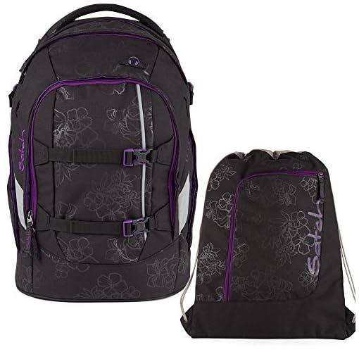 3e01abadfdfca Satch Pack by Ergobag Purple Hibiscus 2-tlg. Set Schulrucksack +  Sportbeutel - schultasche.im-shop.eu