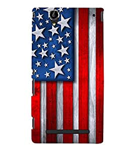 FLAG DESIGN Designer Back Case Cover for Sony Xperia T2 Ultra::Sony Xperia T2 Ultra Dual