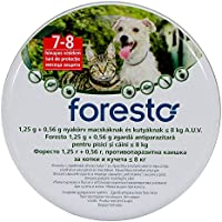 Foresto Flea and Tick Collar for dogs and cats under < 8kg, Continuous 8 months protection