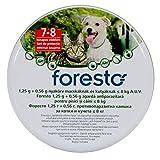 Foresto Hundehalsband gegen Flöhe und Zecken für Hunde und Katzen unter < 8 KG, durchgehende 8 Monate Schutz - KOSTENFREIE Lieferung