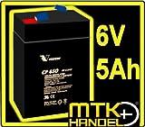 VISION CP650 / 6V 5Ah AGM Blei Akku Batterie