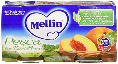 mellin-omogeneizzato-pesca-12-confezioni-da-2-pezzi-da-100-g-24-pezzi-2400-g