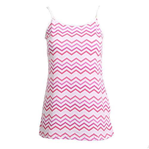 amen Junior Plus Printed Camisole Pullunder, Pink Chevron, 1X ()
