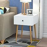 Unbekannt Nachttisch Nachttisch Schlafzimmer Massivholz Weiß Nachttisch Montage Lagerung Lagerschrank (Farbe : B, größe : 40 * 40 * 56)