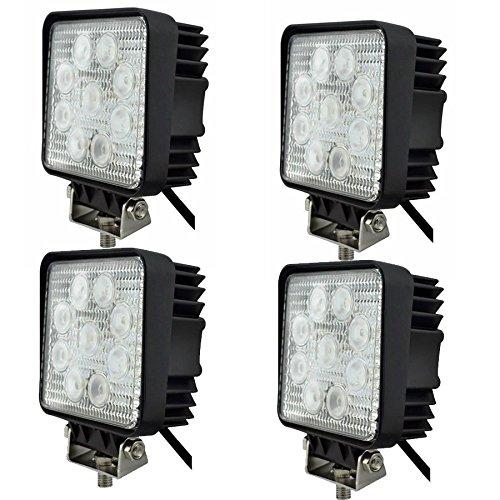 Preisvergleich Produktbild 4 x Faro 27 W Quadratisch Spot LED Arbeitsscheinwerfer 9 LED-Tiefe Auto Boot