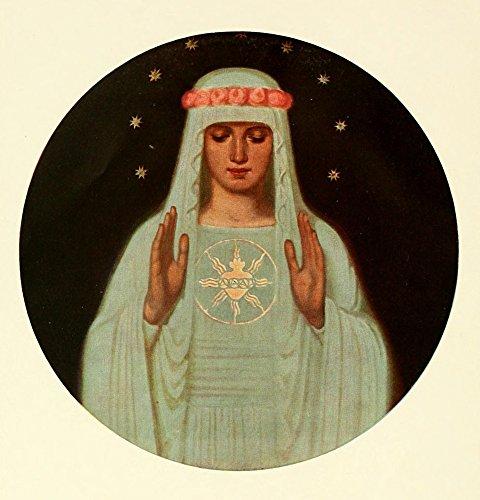 tliche Kunst 10 1913 Herz Maria Kunstdruck (45,72 x 60,96 cm) (Herz-printable)