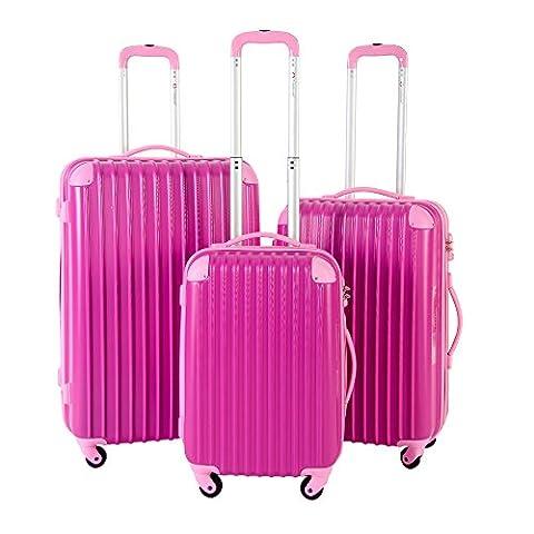 Travelhouse Suitcase Travel Luggage Locks Hard Shell Lightweight 4 Wheel Suitcase