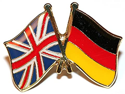 UK & Germany Friendship Flag Pin Badge