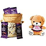 Skylofts Cadbury Dairy Milk & Chocolates Gift Pouch ( 15 Pcs) With Only You Are Special Teddy Bear
