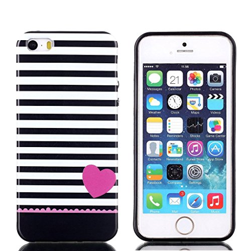 hyait® Case for Apple iPhone 5 G/5S Soft Nachhaltige Gel TPU Silikon Skin Slim Case Cover Germany XS01 #0302