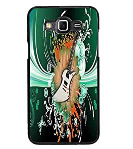 PrintDhaba Guitar D-4616 Back Case Cover for SAMSUNG GALAXY GRAND 3 (Multi-Coloured)
