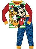 Disney - Ensemble de Pyjama - Garcon - Mickey Mouse a Pluto - Bien Ajusté - Rouge -...