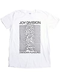 Joy Division T Shirt - Unknown Pleasures White Version 100% Official Merchandise