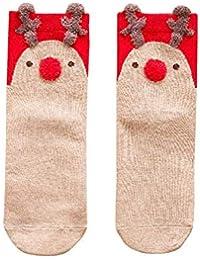 Daliuing Calcetines de Las Mujeres Calcetines Calientes Calcetines de Navidad Calcetines Lindos con algodón Suave Mantener
