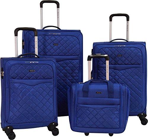 Trip Packing Case (SHAIK® Serie MANCHESTER DESIGN CDG Weichgepäck 4 Größen (Set, Blau))
