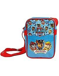 Paw Patrol Umhängetasche für Jungen - Kleine Umhänge für Kinder - Schultertasche für Reisen und Freizeit - Hellblau - 18x12.5x6 cm - Perletti