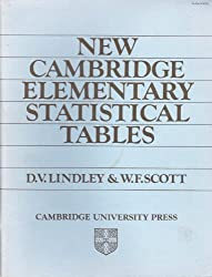 New Cambridge Elementary Statistical Tables 1ed